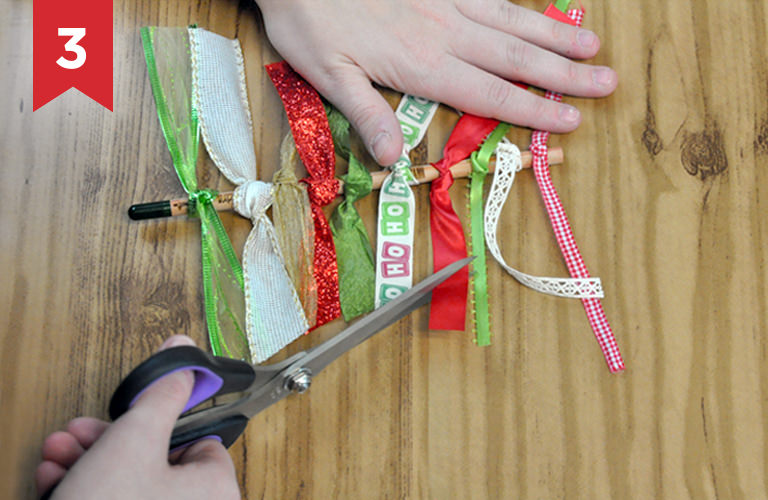 DIY – Ribbon Christmas tree